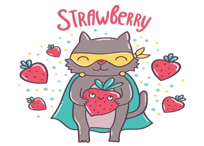 are strawberries safe for cats